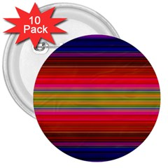 Fiesta Stripe Colorful Neon Background 3  Buttons (10 pack)