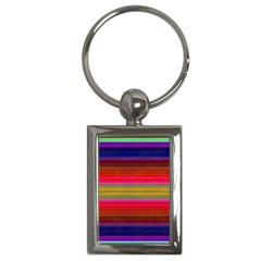 Fiesta Stripe Colorful Neon Background Key Chains (rectangle)