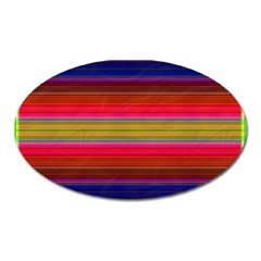 Fiesta Stripe Colorful Neon Background Oval Magnet