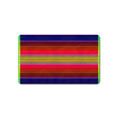 Fiesta Stripe Colorful Neon Background Magnet (name Card)