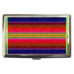 Fiesta Stripe Colorful Neon Background Cigarette Money Cases