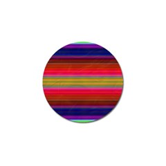 Fiesta Stripe Colorful Neon Background Golf Ball Marker (4 Pack)