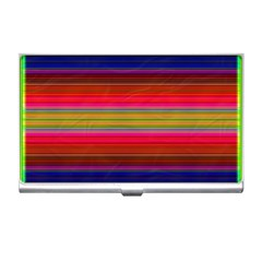 Fiesta Stripe Colorful Neon Background Business Card Holders