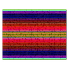 Fiesta Stripe Colorful Neon Background Rectangular Jigsaw Puzzl