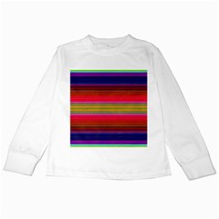 Fiesta Stripe Colorful Neon Background Kids Long Sleeve T Shirts