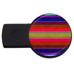Fiesta Stripe Colorful Neon Background USB Flash Drive Round (4 GB)