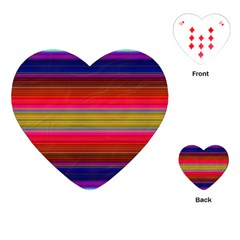 Fiesta Stripe Colorful Neon Background Playing Cards (heart)