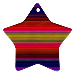 Fiesta Stripe Colorful Neon Background Star Ornament (two Sides)