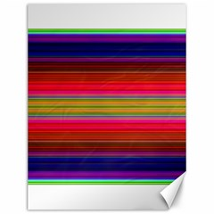 Fiesta Stripe Colorful Neon Background Canvas 12  X 16