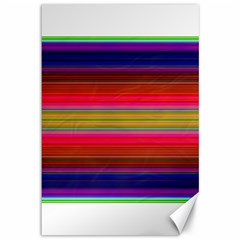 Fiesta Stripe Colorful Neon Background Canvas 12  x 18
