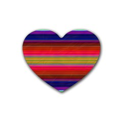 Fiesta Stripe Colorful Neon Background Heart Coaster (4 Pack)