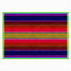 Fiesta Stripe Colorful Neon Background Large Glasses Cloth (2 Side)