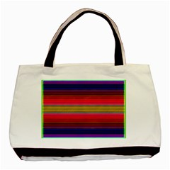 Fiesta Stripe Colorful Neon Background Basic Tote Bag (two Sides)