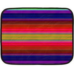 Fiesta Stripe Colorful Neon Background Fleece Blanket (Mini)