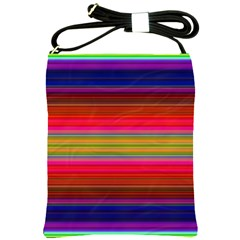 Fiesta Stripe Colorful Neon Background Shoulder Sling Bags