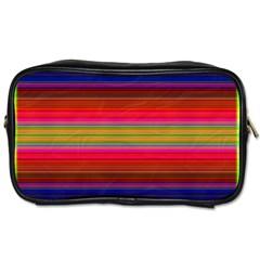 Fiesta Stripe Colorful Neon Background Toiletries Bags