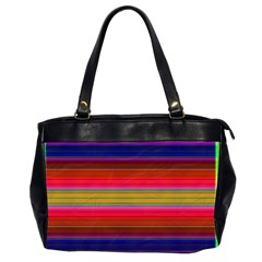 Fiesta Stripe Colorful Neon Background Office Handbags (2 Sides)