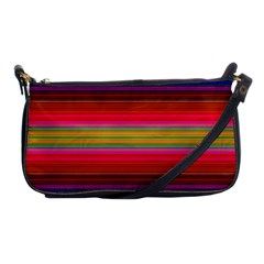 Fiesta Stripe Colorful Neon Background Shoulder Clutch Bags