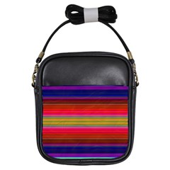 Fiesta Stripe Colorful Neon Background Girls Sling Bags
