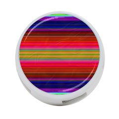 Fiesta Stripe Colorful Neon Background 4 Port Usb Hub (two Sides)