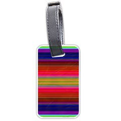 Fiesta Stripe Colorful Neon Background Luggage Tags (one Side)
