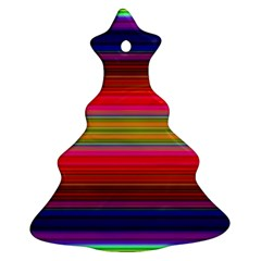 Fiesta Stripe Colorful Neon Background Christmas Tree Ornament (two Sides)