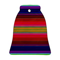 Fiesta Stripe Colorful Neon Background Bell Ornament (two Sides)