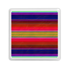 Fiesta Stripe Colorful Neon Background Memory Card Reader (square)