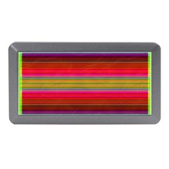 Fiesta Stripe Colorful Neon Background Memory Card Reader (mini)