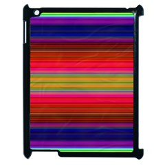 Fiesta Stripe Colorful Neon Background Apple Ipad 2 Case (black)