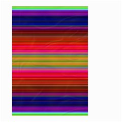 Fiesta Stripe Colorful Neon Background Small Garden Flag (two Sides)
