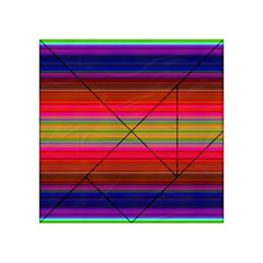 Fiesta Stripe Colorful Neon Background Acrylic Tangram Puzzle (4  X 4 )