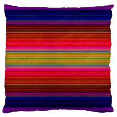 Fiesta Stripe Colorful Neon Background Large Cushion Case (one Side)