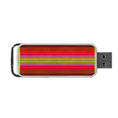 Fiesta Stripe Colorful Neon Background Portable Usb Flash (one Side)