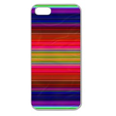 Fiesta Stripe Colorful Neon Background Apple Seamless Iphone 5 Case (clear)
