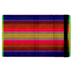 Fiesta Stripe Colorful Neon Background Apple Ipad 3/4 Flip Case