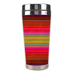Fiesta Stripe Colorful Neon Background Stainless Steel Travel Tumblers