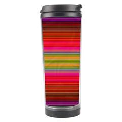 Fiesta Stripe Colorful Neon Background Travel Tumbler