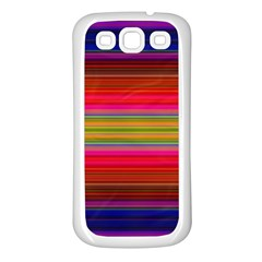 Fiesta Stripe Colorful Neon Background Samsung Galaxy S3 Back Case (white)