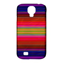 Fiesta Stripe Colorful Neon Background Samsung Galaxy S4 Classic Hardshell Case (pc+silicone)