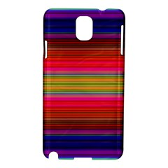 Fiesta Stripe Colorful Neon Background Samsung Galaxy Note 3 N9005 Hardshell Case