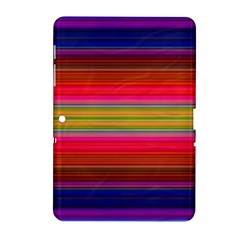 Fiesta Stripe Colorful Neon Background Samsung Galaxy Tab 2 (10 1 ) P5100 Hardshell Case