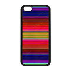 Fiesta Stripe Colorful Neon Background Apple Iphone 5c Seamless Case (black)
