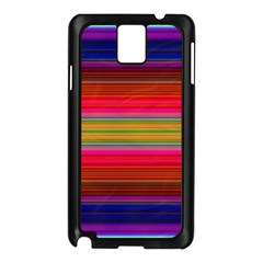 Fiesta Stripe Colorful Neon Background Samsung Galaxy Note 3 N9005 Case (black)