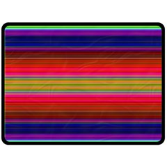 Fiesta Stripe Colorful Neon Background Double Sided Fleece Blanket (large)