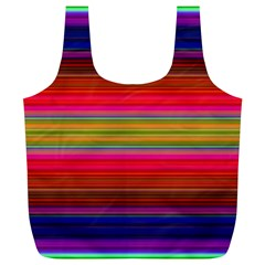 Fiesta Stripe Colorful Neon Background Full Print Recycle Bags (l)
