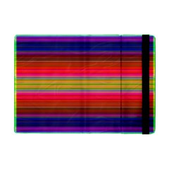 Fiesta Stripe Colorful Neon Background Ipad Mini 2 Flip Cases