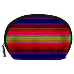 Fiesta Stripe Colorful Neon Background Accessory Pouches (large)