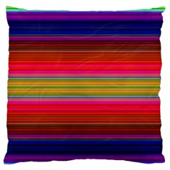 Fiesta Stripe Colorful Neon Background Large Flano Cushion Case (two Sides)