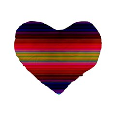 Fiesta Stripe Colorful Neon Background Standard 16  Premium Flano Heart Shape Cushions